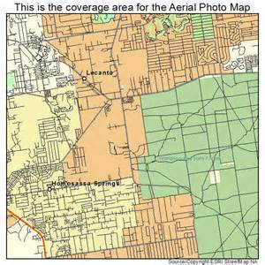 aerial photography map of lecanto fl florida
