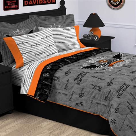 harley davidson bedroom bed in a bag net