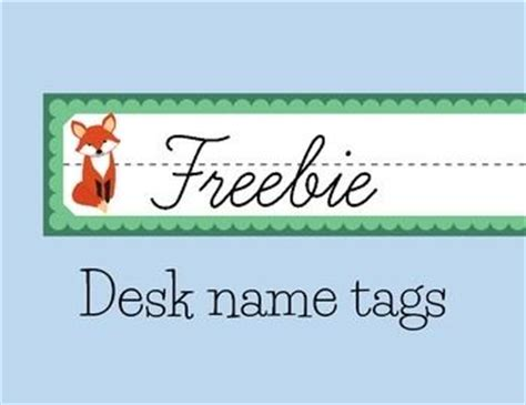 Fox Themed Desk Name Tags Free Cing Themed Student Desk Name Tags