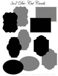 free die cut templates free die cut templates