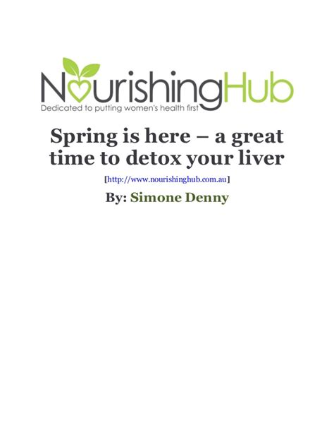 What Is A Time To Detox by Is Here A Great Time To Detox Your Liver