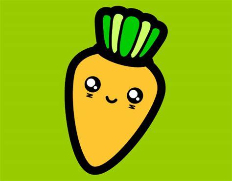 imagenes de zanahorias kawaii dibujo de zanahoria pintado por laurapx7 en dibujos net el