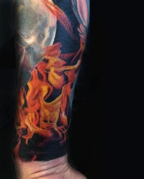 fire tattoos for men black pictures to pin on
