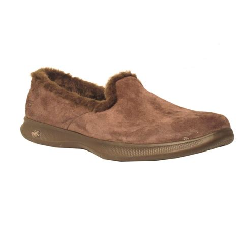 sketcher slippers sketchers womens slipper 14719 brown