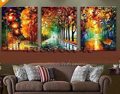 canvas for room new 100 painted landscape city bench modern canvas painting for living room wall