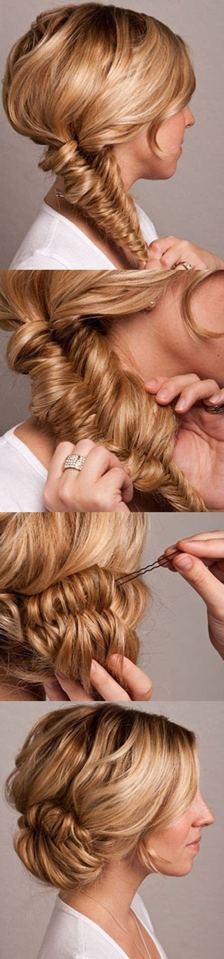 hairstyles diy blog fishtail bun wedding hair tutorial once wed