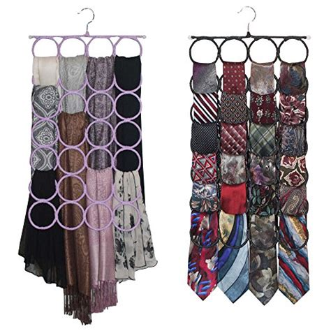 Tie Rack Pashmina Scarves by Scarf Tie Hanger Closet Organizer The No Snags Best