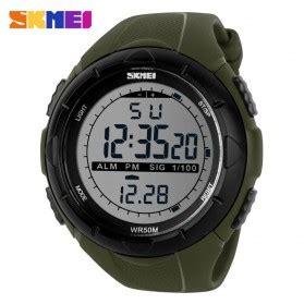 Jam Tangan Pria Keren Murah Skmei Sport Led 004 Black White skmei jam tangan digital pria dg1142 black blue
