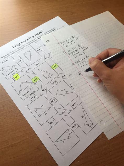 Right Triangle Trigonometry Soh Cah Toa Mazes Math