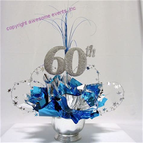 centerpieces for 60th birthday tables 60th birthday table decorations 60th milestone