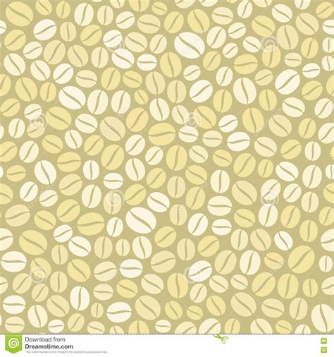 light pattern background vector coffee beans seamless pattern on light background stock
