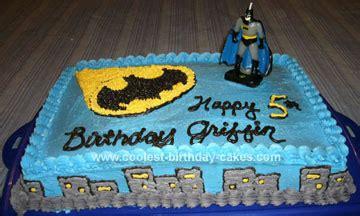 cool homemade batman birthday cake  batman figurine