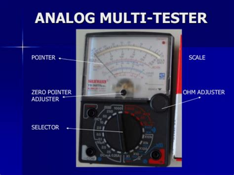 Multi Tester Multitester Analog Der E parts of multitester jazer crisostomo