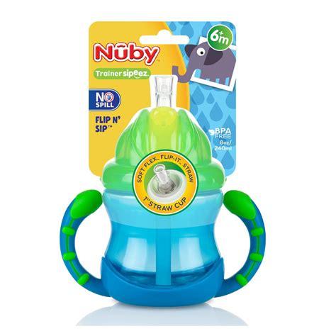 Nuby 7oz Handle Flip It Straw Cup alami baby beakers sippers cups nuby flip n sip 2