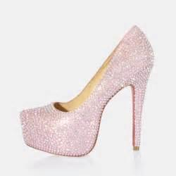 wedding shoes jeweled heels high heel rhinestone closed toes pink wedding shoes flowerweddingshoes