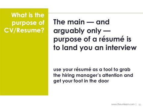 What Is The Purpose Of A Resume by Purpose Of A Resume