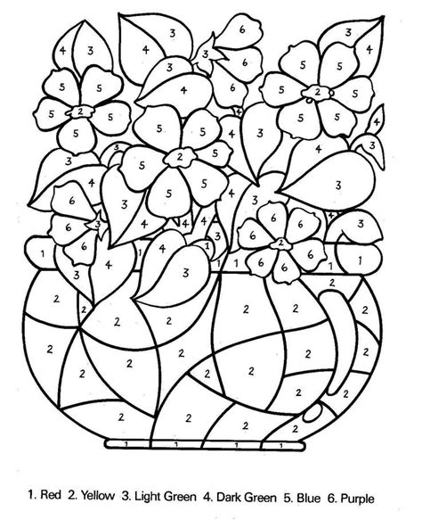 free color by number for adults color by number worksheets for adults coloring pages