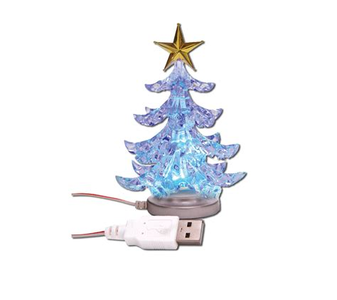 usb christmas tree desk top plug play colour changing xmas