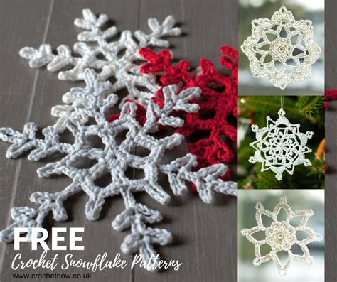 crochet snowflake patterns gorgeous tree decorations