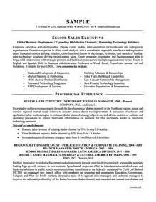 Executive Sle Resumes by Resume Senior Sales Executive 037 Resume Format