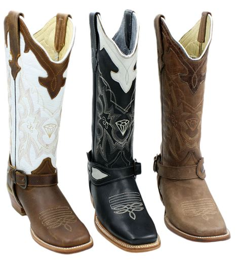 Cowhide Leather Shoes - genuine leather cowhide western boots style