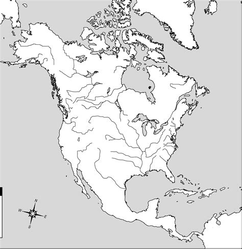 blank physical map of usa and canada blank map america