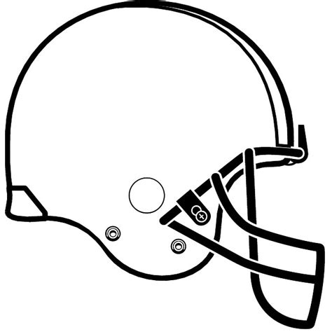 football outline template football helmet outline clipart best