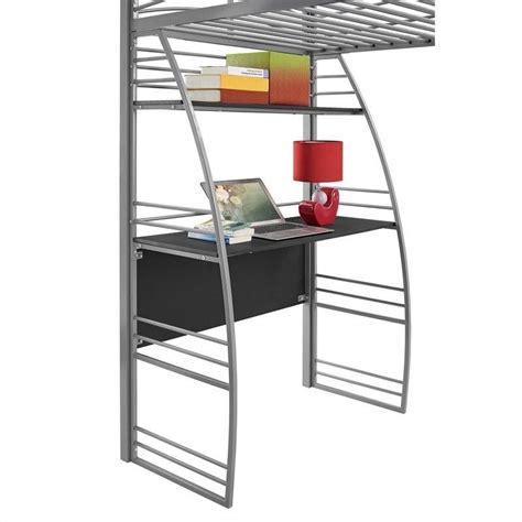 Bunk Bed Studio Studio Loft Bunk Bed Desk And Bookcase In Gray 4016427