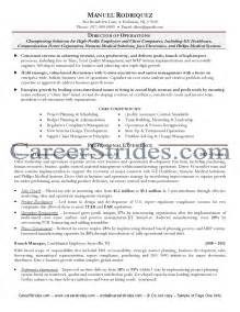 director of operations resume sle turnaround manager resume