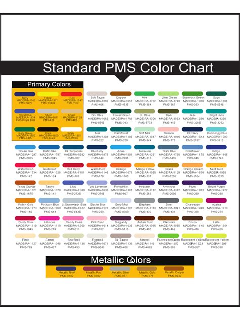 general color chart template 2018 general color chart template fillable printable