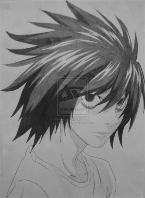 L Drawing by L Lawliet Ryuzaki Viii By Rheehemoth On Deviantart