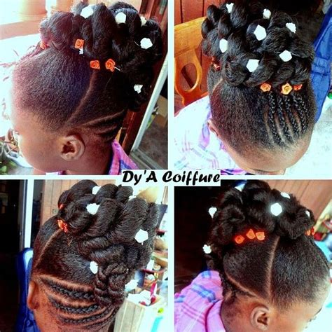 how to make a donut with block braids chignon kids