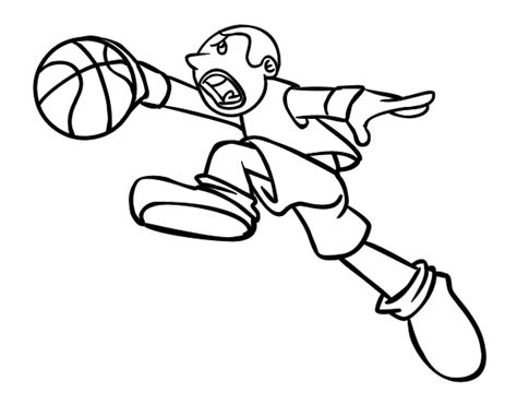 basket jump coloring page coloringcrew