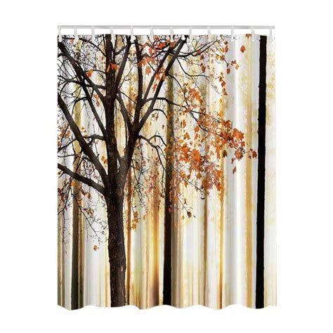 Sheer Fabric For Curtains Designs Fabric Waterproof Bathroom Shower Curtain Panel Sheer Decor With 12 Hooks Set Ebay