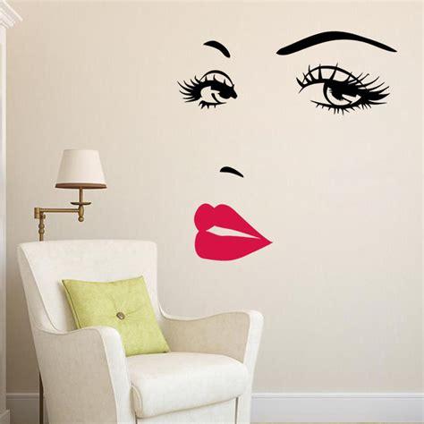 marilyn monroe face eyes sexy red lip home decor wall sticker decals art mural ebay