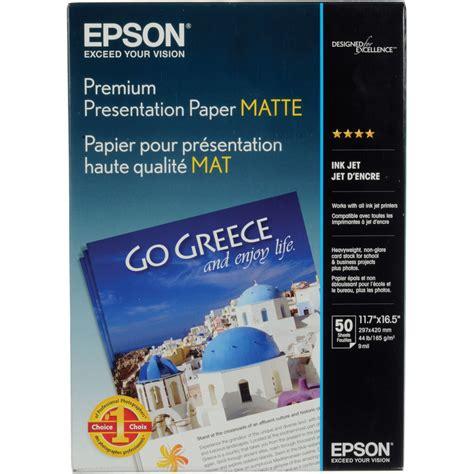 epson matte paper epson matte paper heavyweight 11 7x16 5 quot 50 s041260 b h