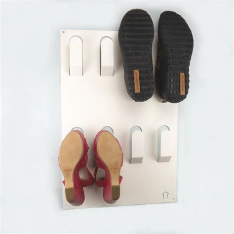 wall mounted shoe rack unique wall mounted metal shoe rack white