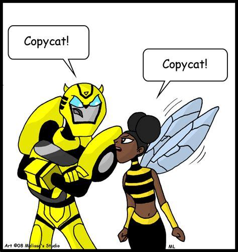 Copy Cat Justice bumblebee meets bumblebee by twintwosgirl on deviantart
