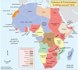 Map Of Africa 1914 by Africana Age