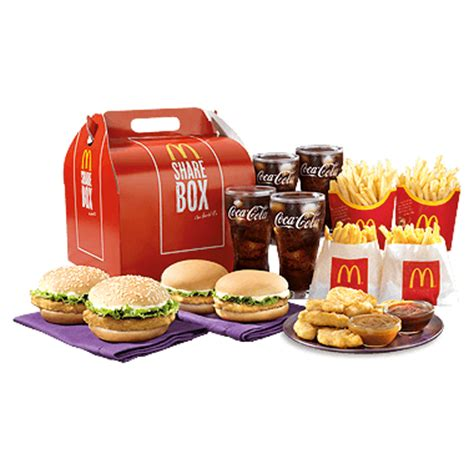 X Tream Meal Box Set by Mcdonald S Sharebox Chicken