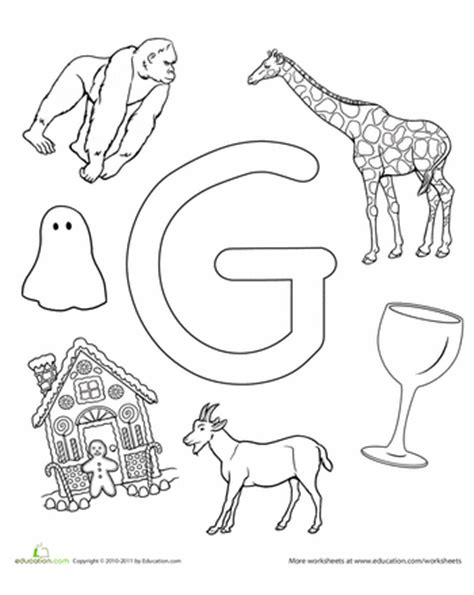 preschool coloring pages letter g letters of the alphabet coloring pages education com