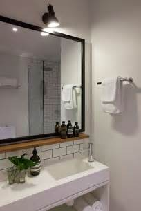 mirrors with shelves for the bathroom small wood shelf under mirror hassell projects ovolo