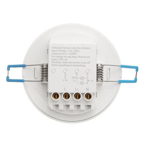 motion sensor recessed light 360 176 infrared ir ceiling wall recessed motion sensor