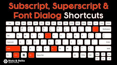 visio subscript microsoft subscript shortcuts explained