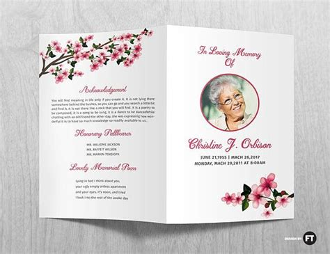funeral leaflet template 30 best funeral memorial programs templates images on