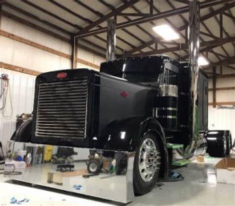 grade stainless semi truck  exhaust monster stack kit  stock stainless semi truck