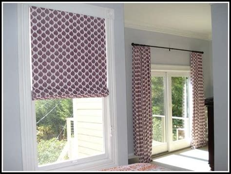 Roman Shades With Matching Curtains Curtains Home