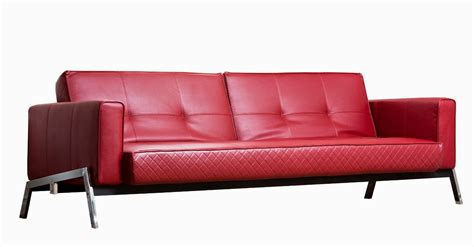 red futon couch red leather sofa
