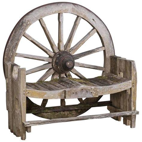 wagon wheel benches french wagon wheel large garden bench circa 1880 for sale