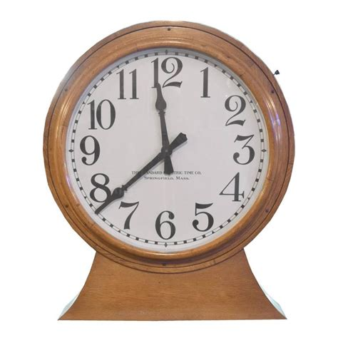 american double sided wall clock for sale at 1stdibs